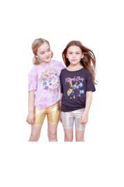 Rowdy Sprout Purple Rain Crop Tee - Back cropped