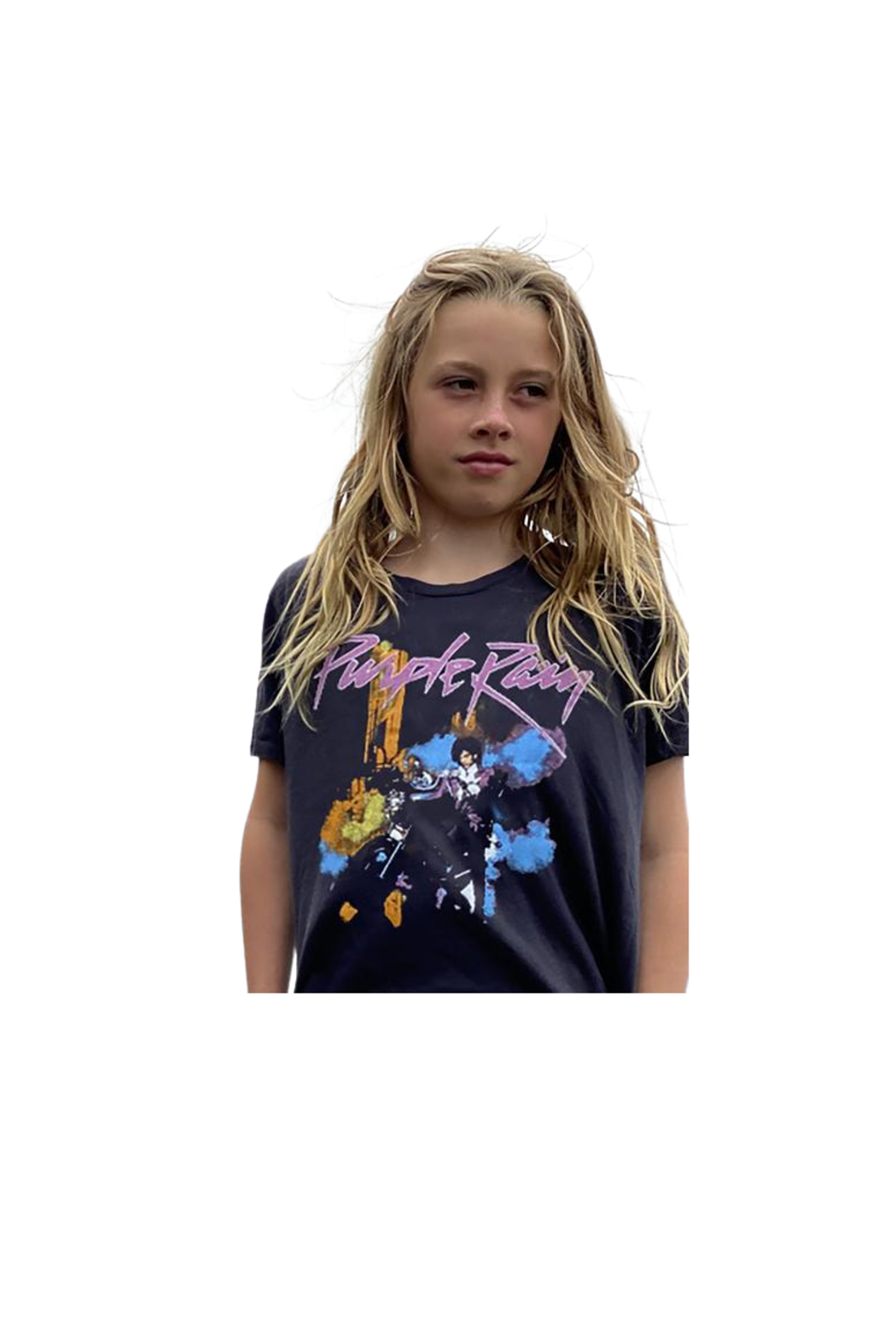 Rowdy Sprout Purple Rain Crop Tee - Front Full Image