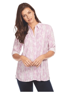 Shoptiques Product: Purple Stripe Shirt