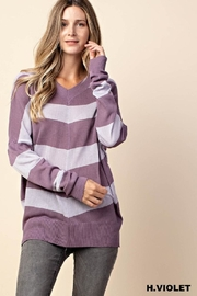 KORI AMERICA Purple Striped Sweater - Product Mini Image