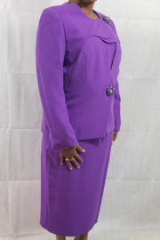 Lilly & Taylor Purple suit - Front cropped