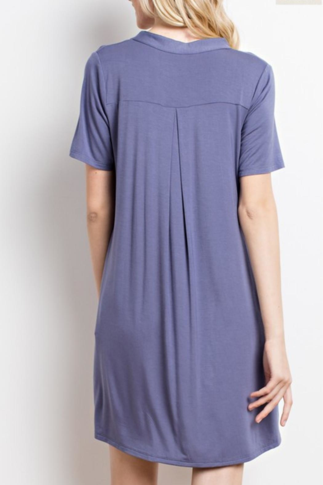 Mittoshop Purple T-Shirt Dress - Front Full Image