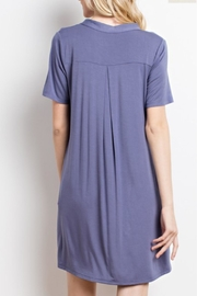 Mittoshop Purple T-Shirt Dress - Front full body