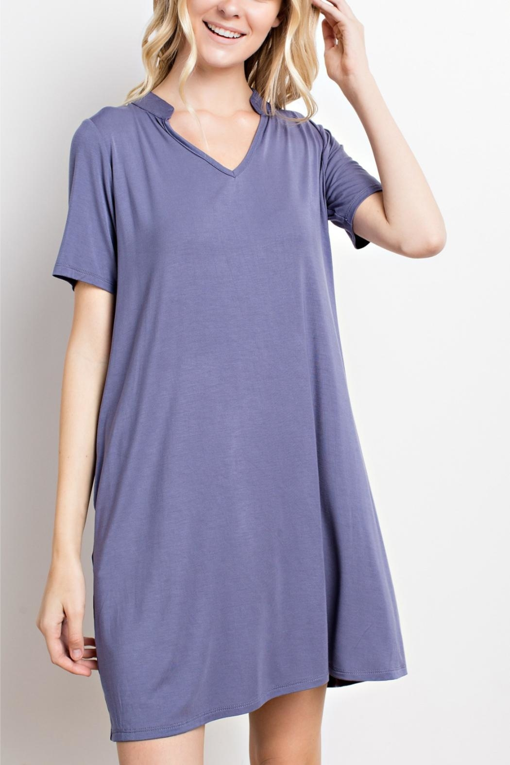 Mittoshop Purple T-Shirt Dress - Front Cropped Image