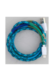 Natural Life Purple Teal Iphone Cord - Product Mini Image