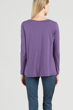 Clara Sunwoo Purple top with soft twist hem - Alternate List Image