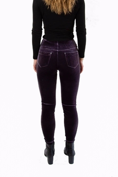 Lysse Purple Velvet Leggings - Alternate List Image