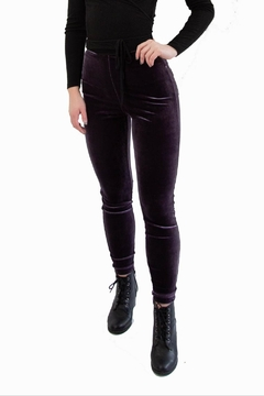 Lysse Purple Velvet Leggings - Product List Image