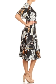 Purple Rain Fall Foliage Dress - Front full body