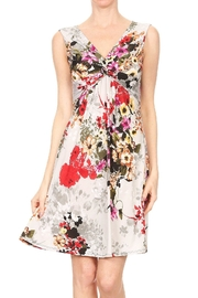 Purple Rain Floral V-Neck Dress - Product Mini Image