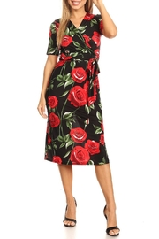 Purple Rain Red Roses Dress - Product Mini Image