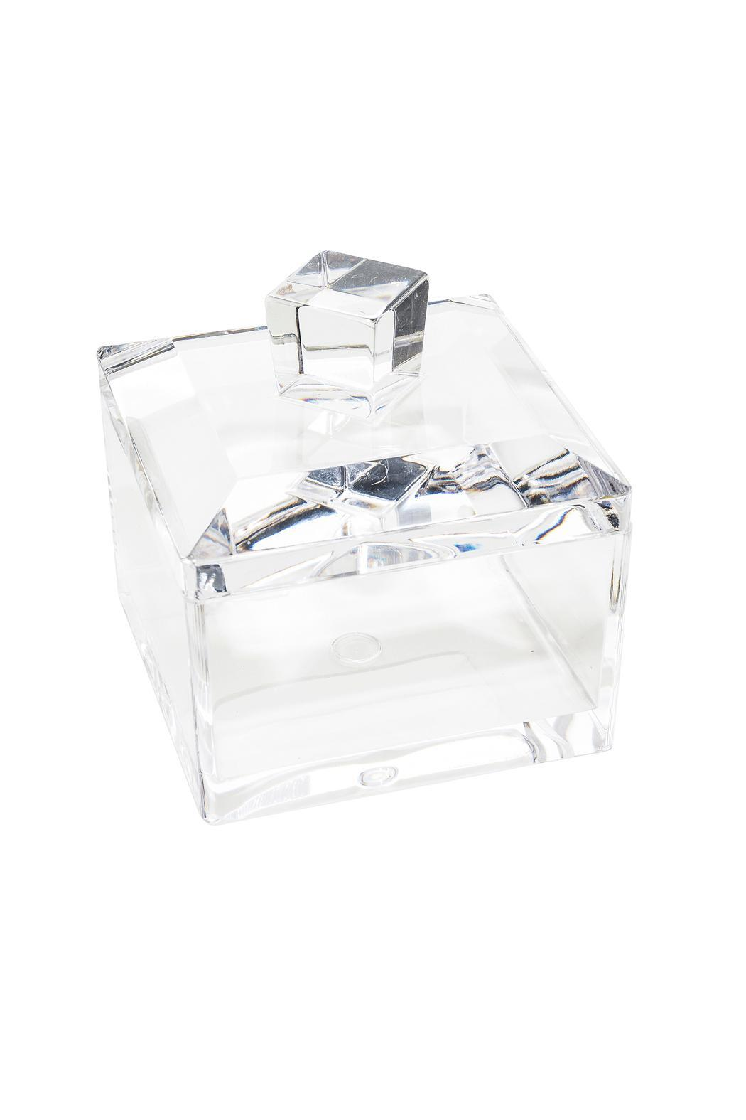 Purseonality Lucite Jewelry Box - Front Full Image