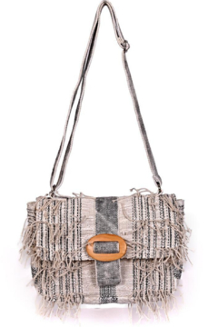 Shoptiques Product: Putty Fringed Clutch