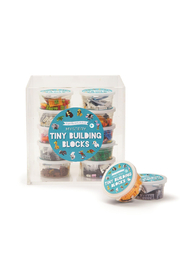 Cupcakes & Cartwheels Puzzle Pods: Mystery Animal Tiny Building Blocks - Front cropped