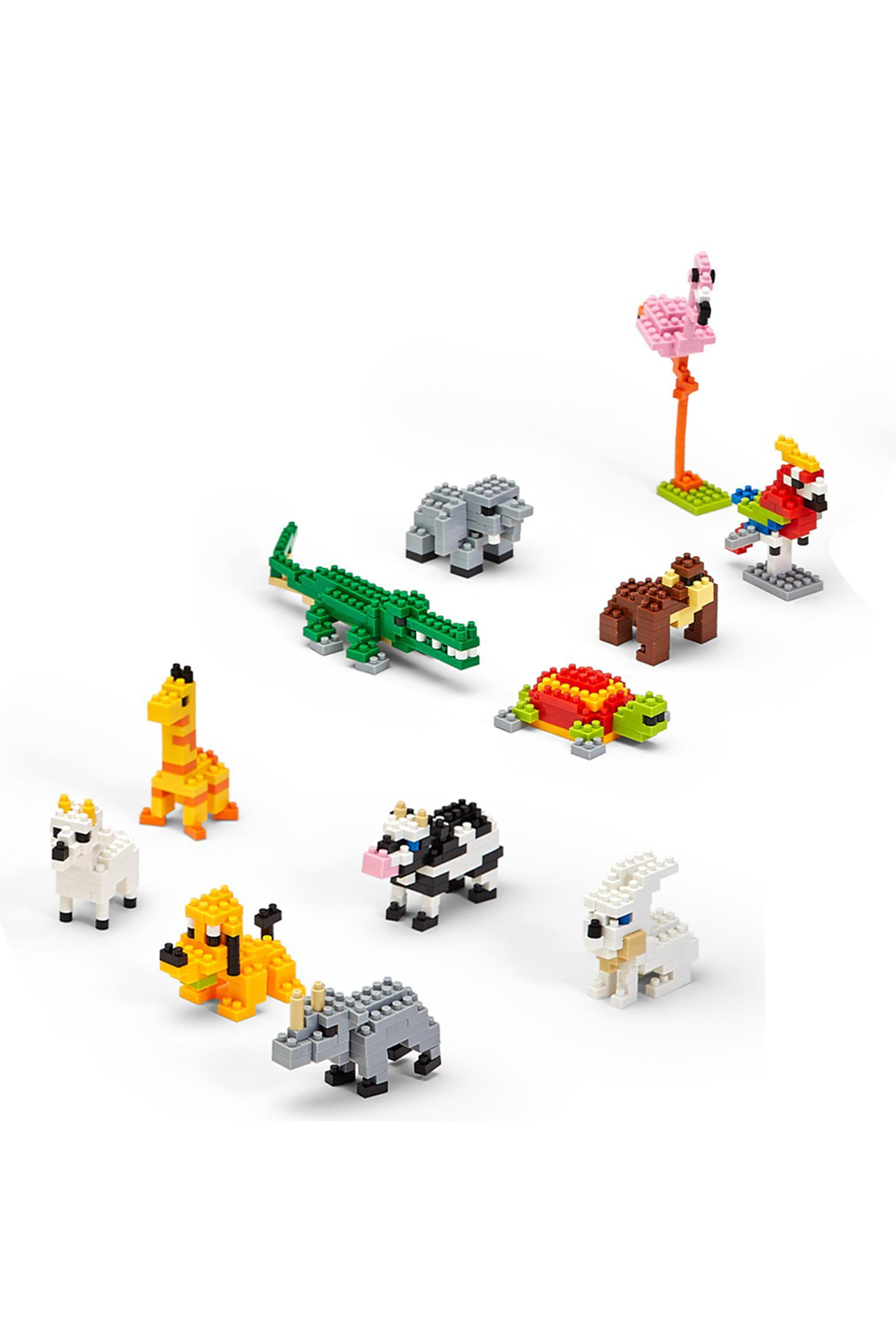 Cupcakes & Cartwheels Puzzle Pods: Mystery Animal Tiny Building Blocks - Front Full Image