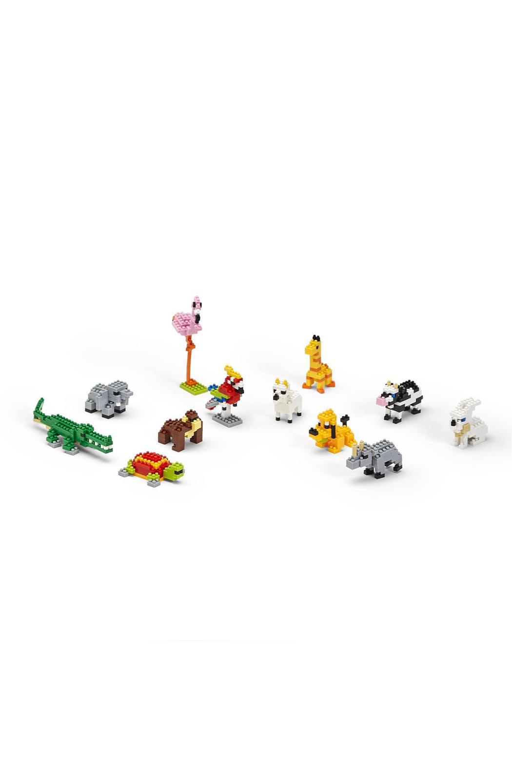 Cupcakes & Cartwheels Puzzle Pods: Mystery Animal Tiny Building Blocks - Back Cropped Image
