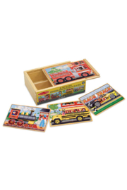 Melissa and Doug Puzzles in a Box-Vehicles - Product Mini Image