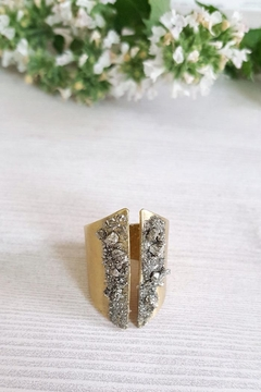 Dynamo Pyrite Mineral Ring - Product List Image