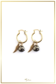 Malia Jewelry Pyrite Wing Hoops - Product Mini Image