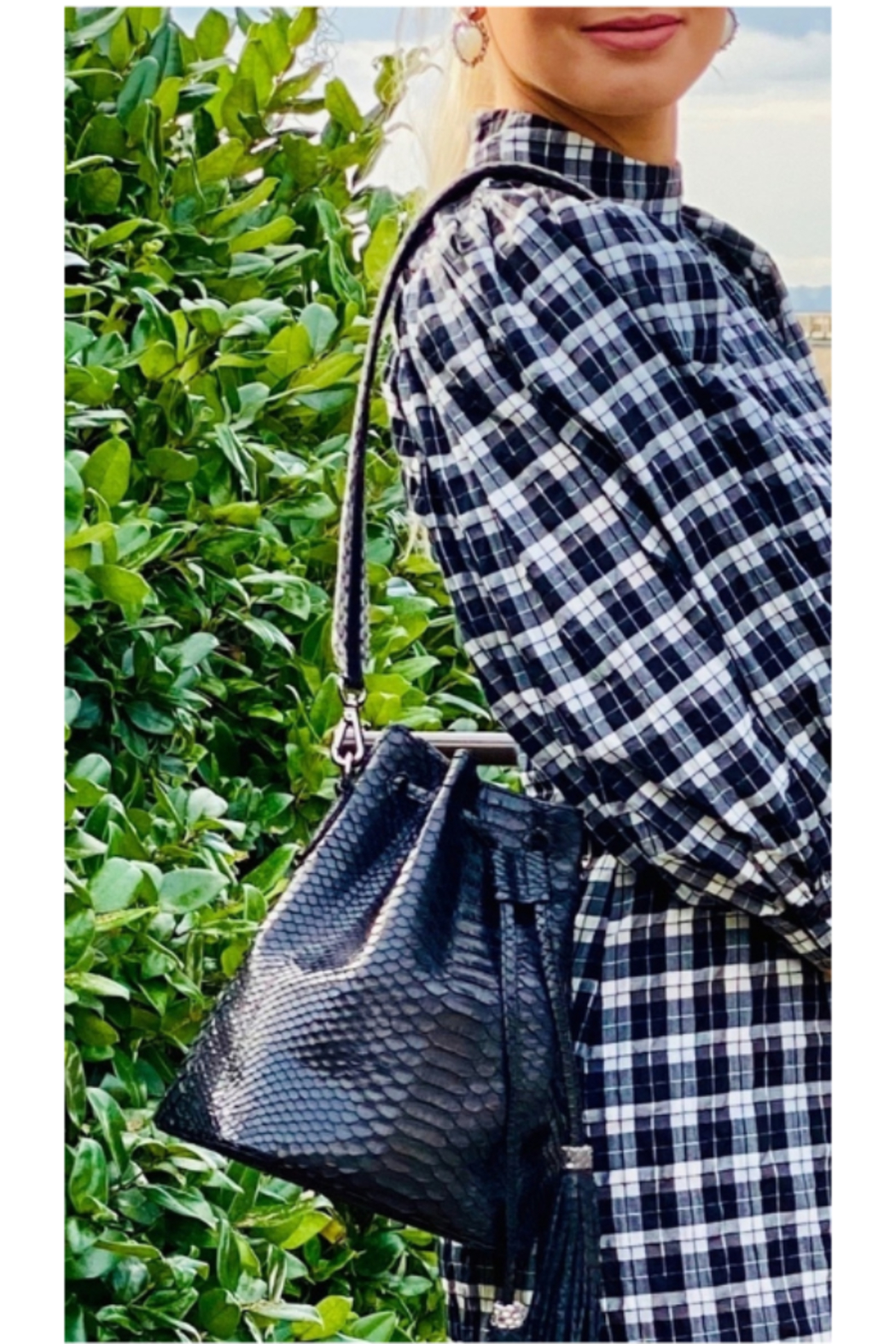 Mari Max Python Bucket Bag - Main Image