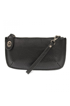 Joy Accessories Vegan Leather Python Crossbody Wristlet Clutch - Product List Image
