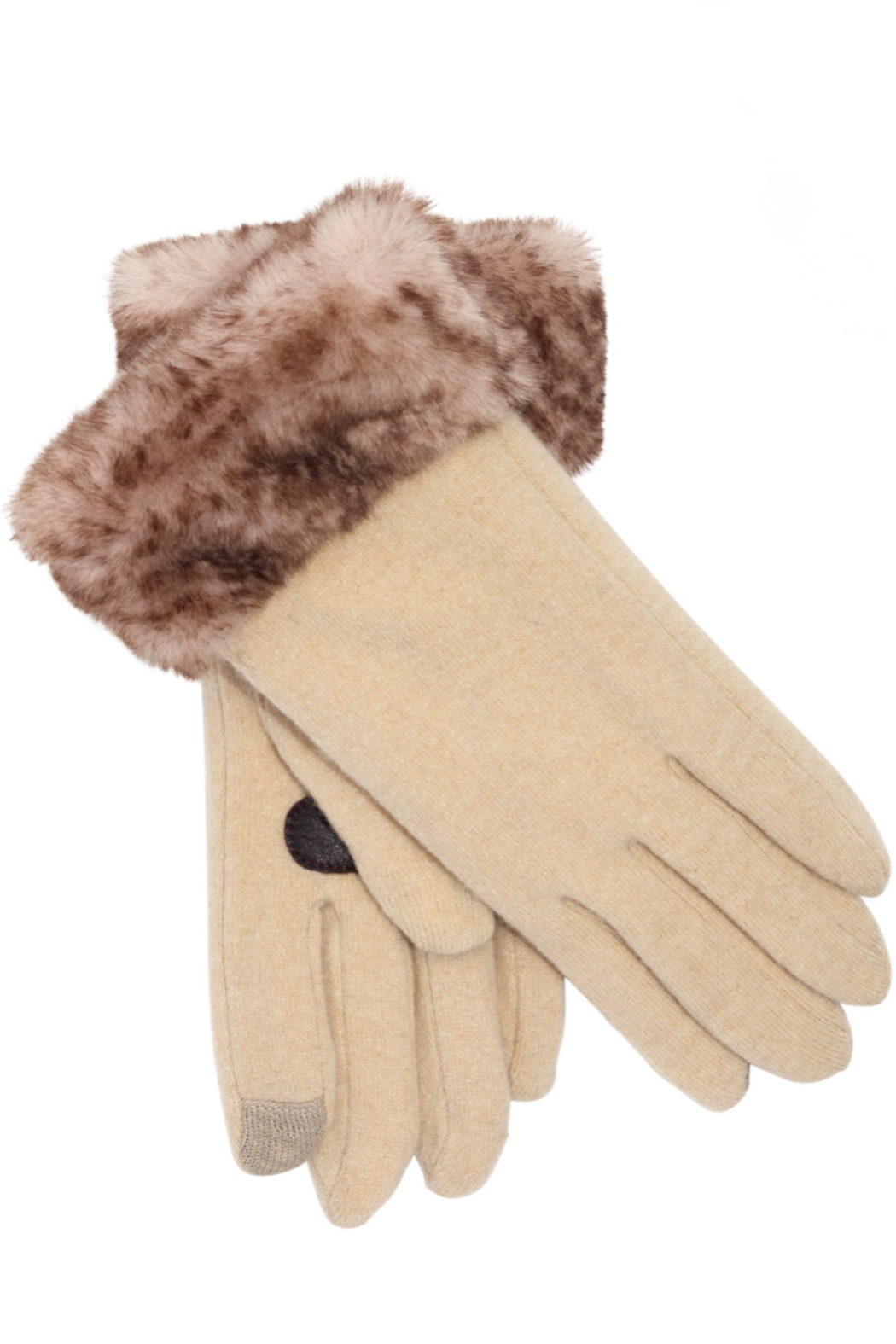 Echo Design Python Faux Fur Cluff Glove - Front Cropped Image
