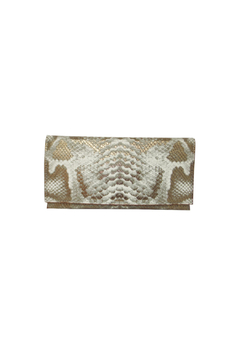 Sondra Roberts Python Flap Clutch - Alternate List Image