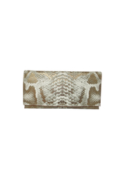 Sondra Roberts Python Flap Clutch - Product Mini Image