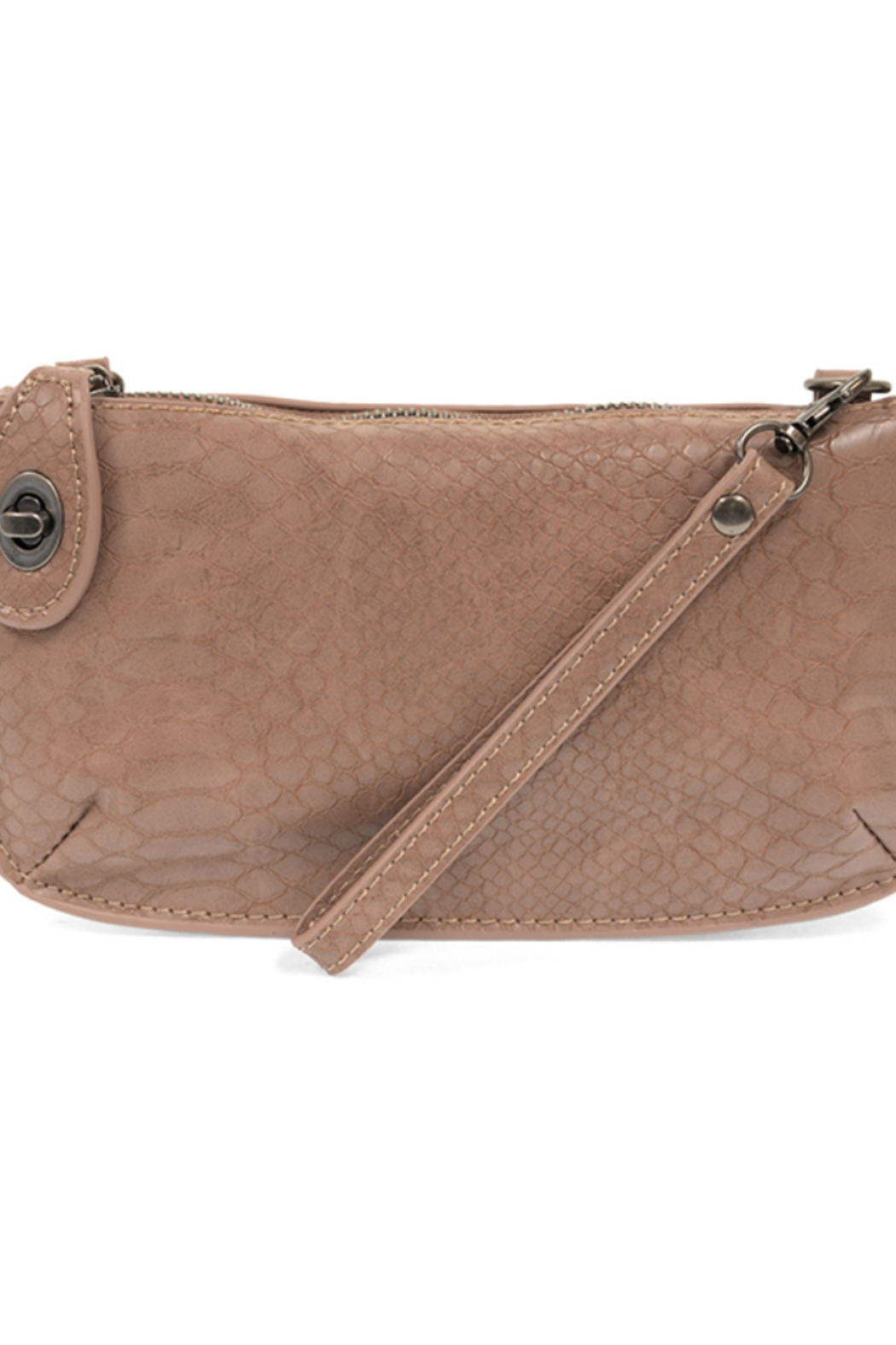 Joy Susan  Python Mini Crossbody Wristlet Clutch - Front Cropped Image