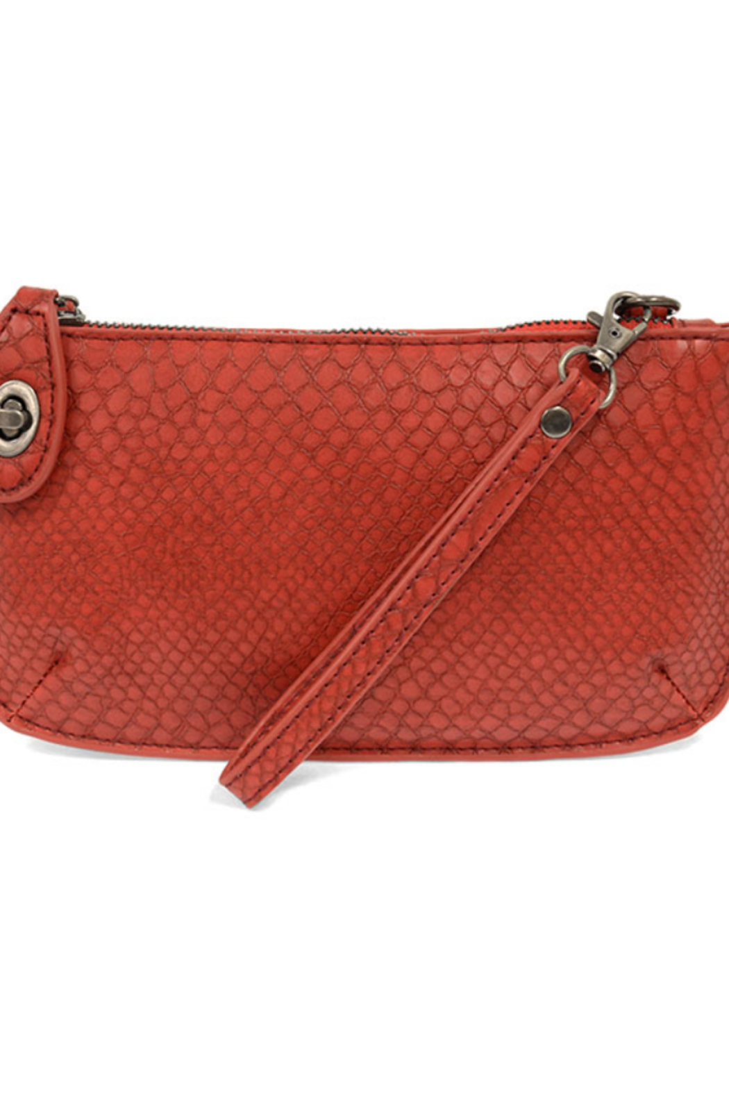 Joy Susan  Python Mini Crossbody Wristlet Clutch - Main Image