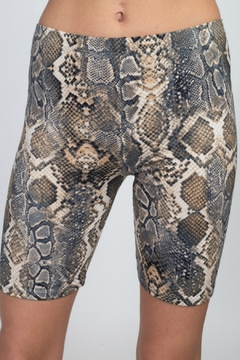 R+D emporium  Python Print Bike Shorts - Product List Image