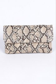 H & D Python Print Clutch - Front cropped