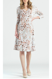 Clara Sunwoo Python Print Faux Wrap Dress - Product Mini Image