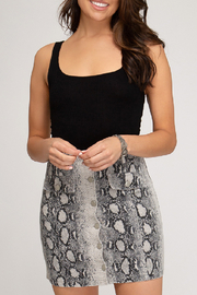 She+Sky Python Print Skirt - Front full body
