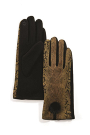 Two's Company Python Print Ultra Suede Gloves - Product Mini Image