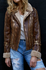 AS by DF Python Shearling Coat - Product Mini Image