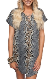 Buddy Love Python Shift Dress - Product Mini Image