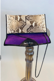 CANDY WOOLLEY PYTHON SKIN CLUTCH - Side cropped