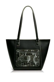 Vera Bradley Black Python Small Ella Tote - Product Mini Image