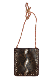 Ah!dorned Python Studded Crossbody - Front cropped