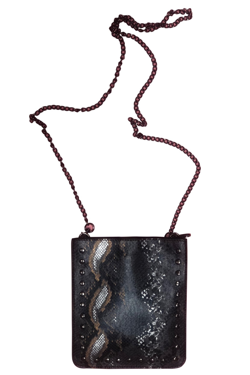 Ah!dorned Python Studded Crossbody - Front Cropped Image
