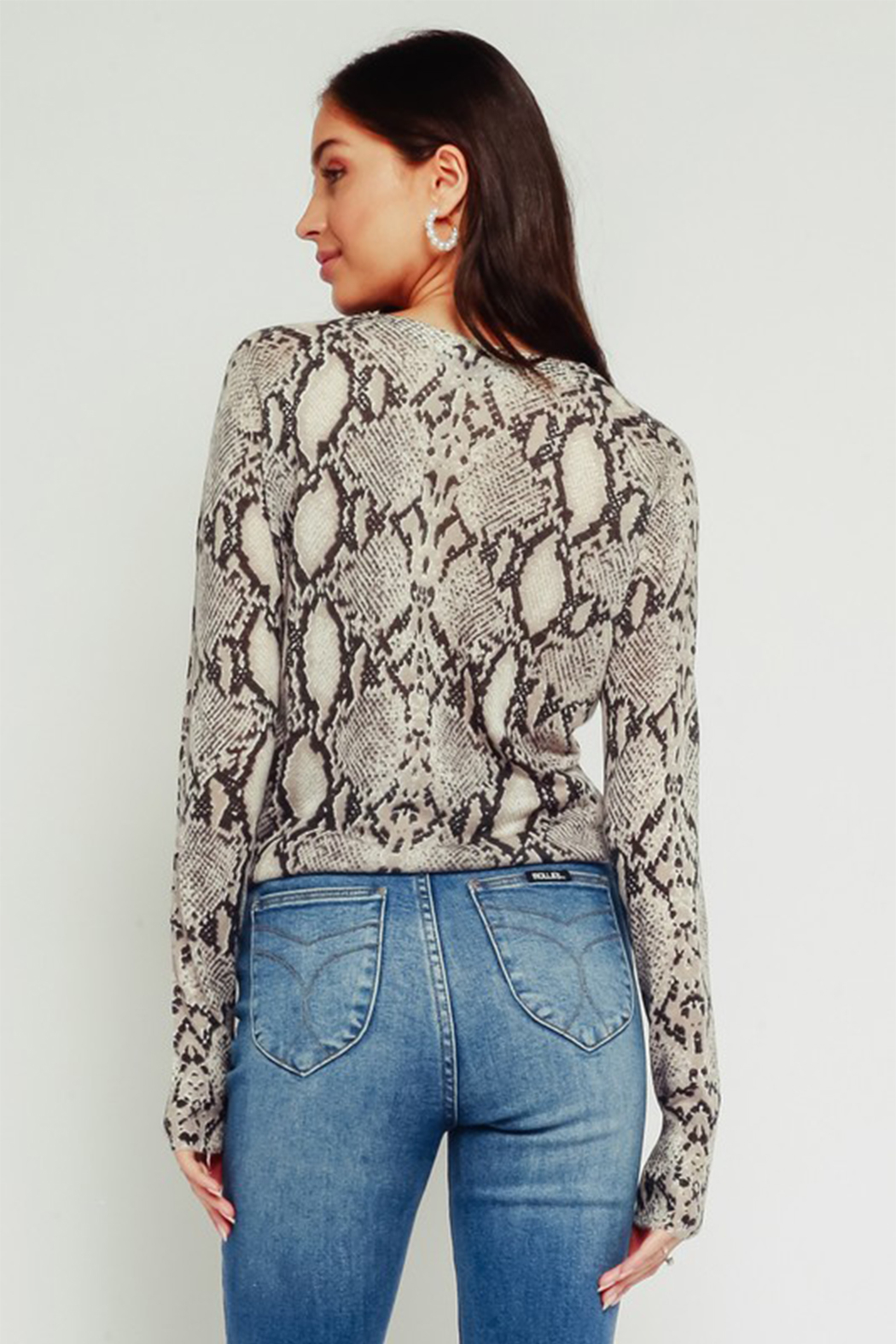 Olivaceous Python Tie Top - Side Cropped Image