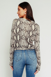 Olivaceous Python Tie Top - Side cropped
