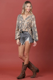 Blue Buttercup PYTHON TOP - Front full body