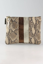 ZINA KAO EXCLUSIVES Python Two Stripe Monroe Pouch - Product Mini Image