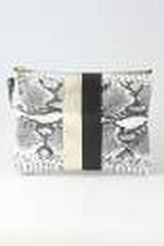 ZINA KAO EXCLUSIVES Python Two Stripe Monroe Pouch - Front cropped