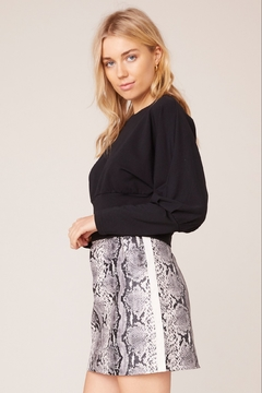 Shoptiques Product: Python Vegan Leather Skirt