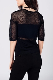 Q2 Black Knit Top - Front full body
