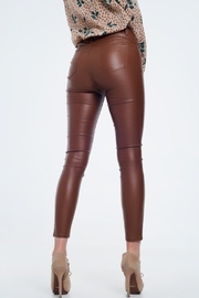 Q2 Brown Leather Pants - Other