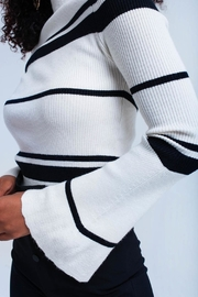 Q2 Bell Sleeve Sweater - Back cropped